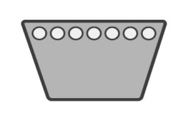 Keilriemen 17 x 2570